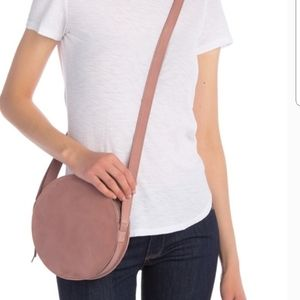 Madewell Circle Leather Crossbody Blush Bag